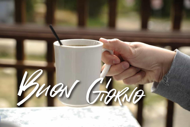 Buongiorno amici con caffe