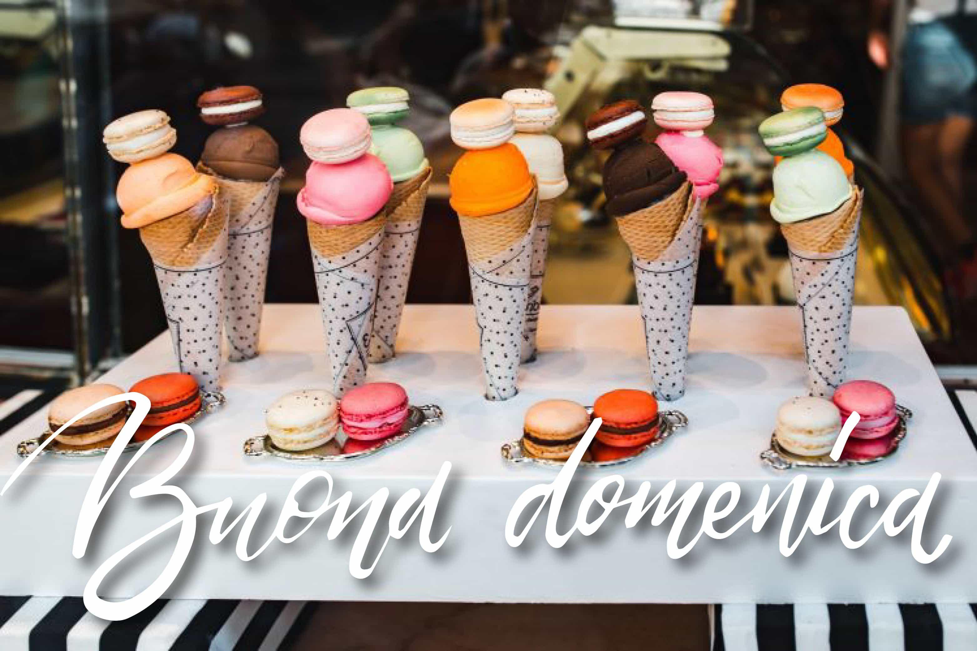 Buona domenica foto con gelato