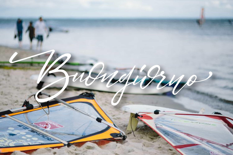 Buongiorno su Facebook con la spiaggia