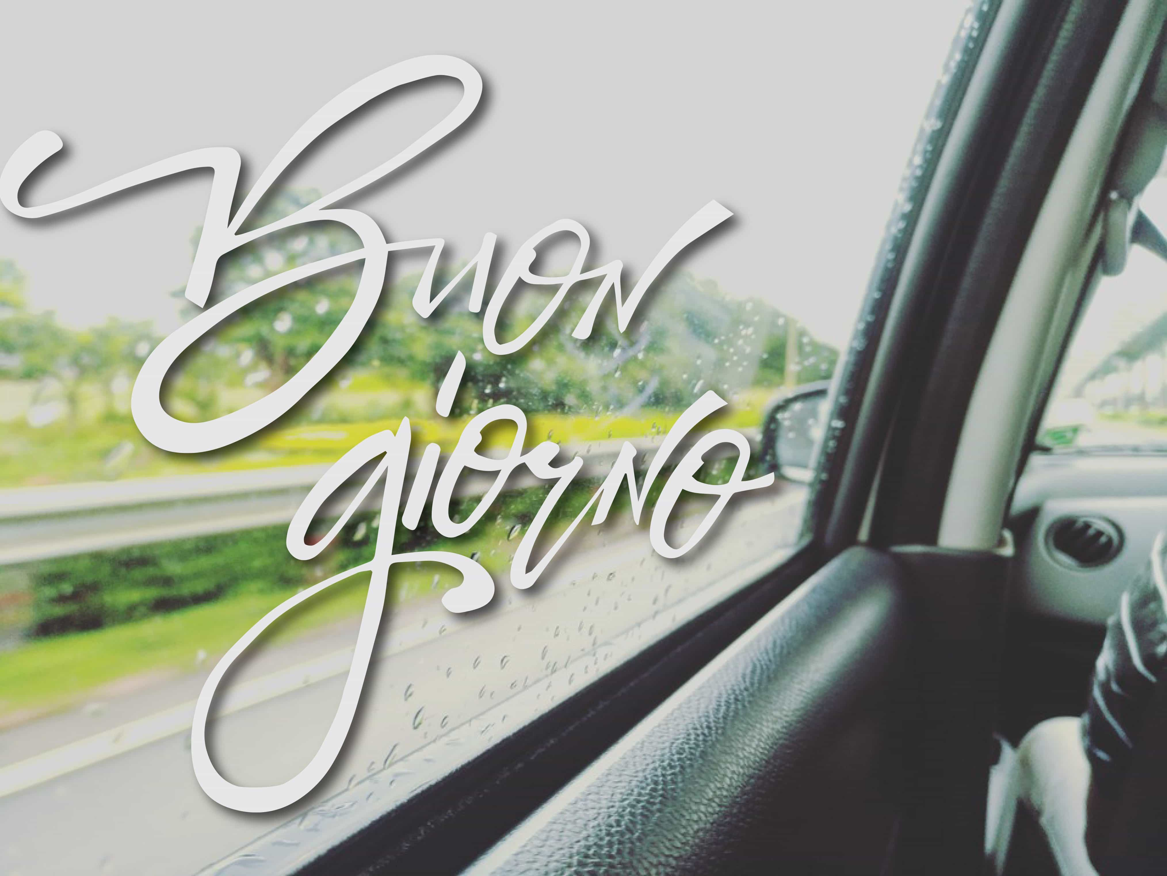 Buona giornata e buon viaggio con piove