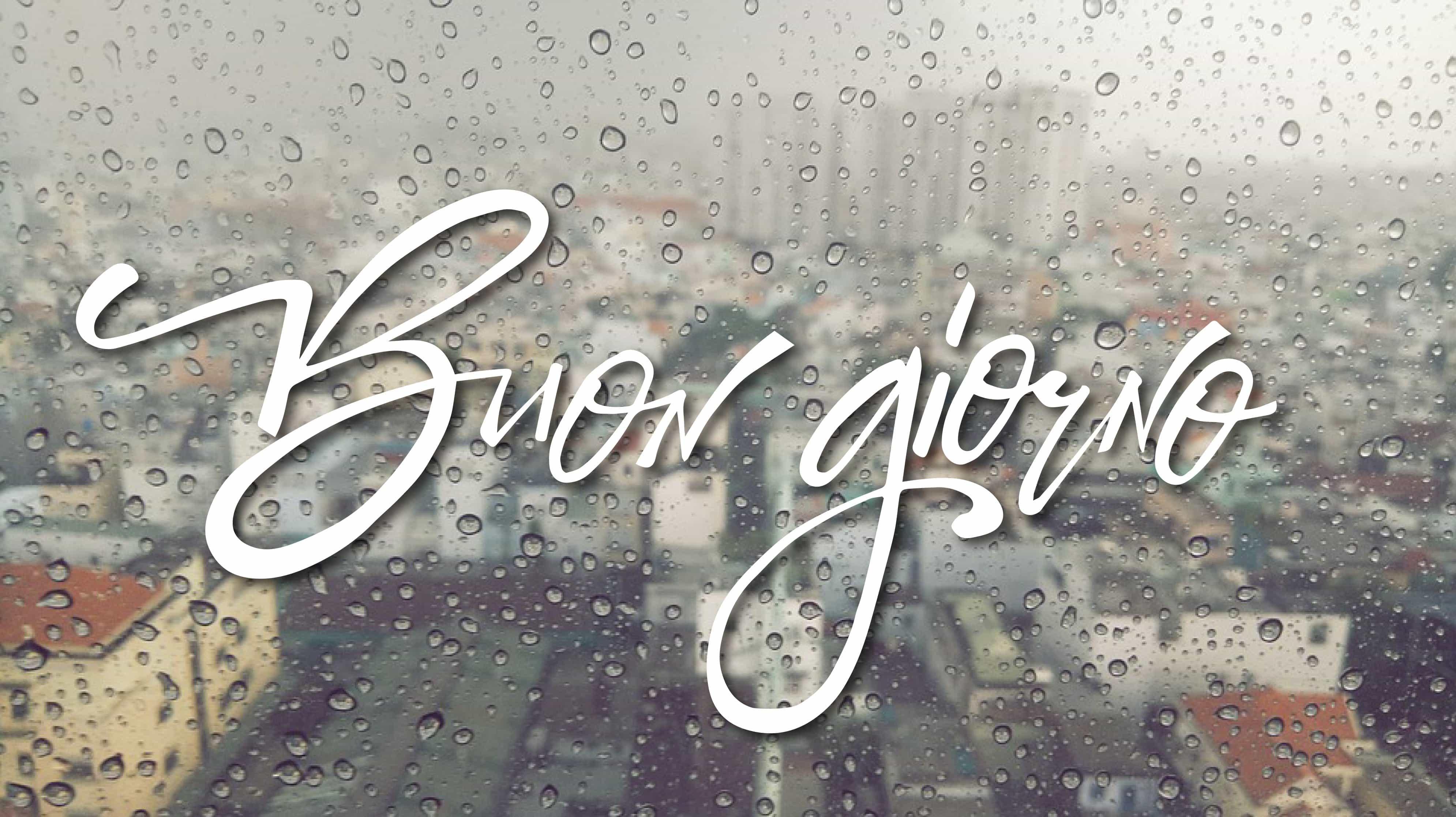 Buona giornata cittá piove buongiorno sotto pioggia