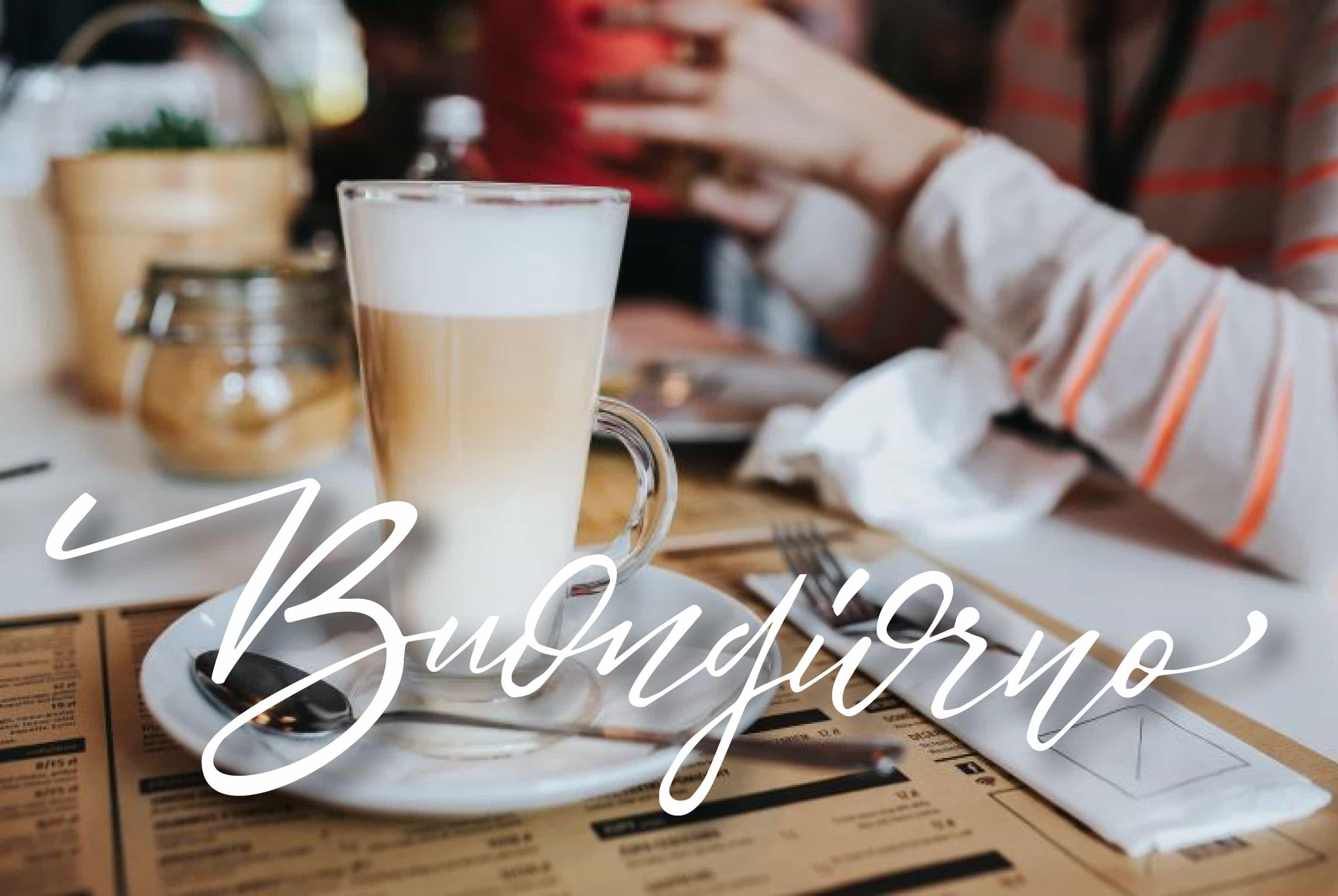 Buon caffè e buona giornata