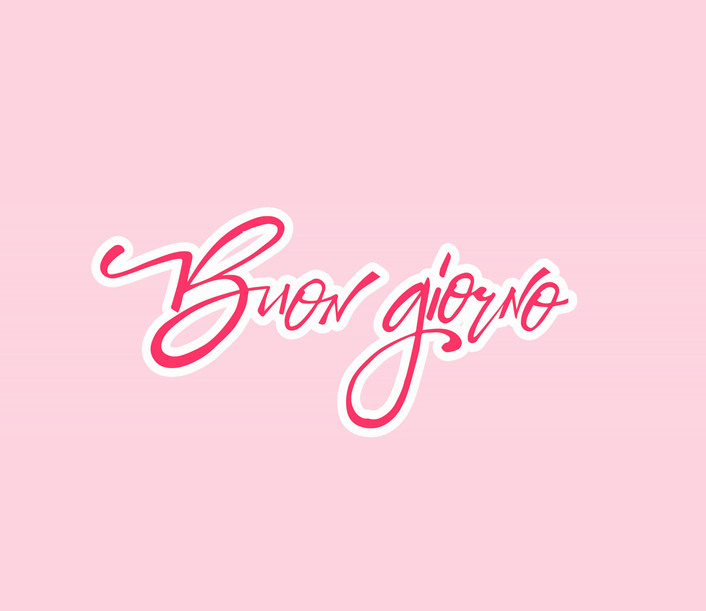 Bellissima foto rosa della buona giornata