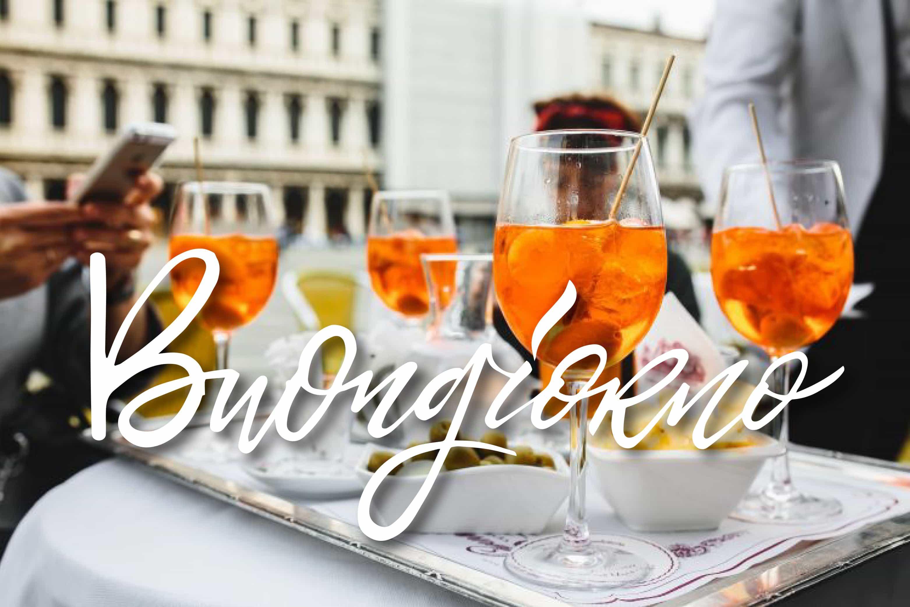 Foto bellissimo con cocktail per augurare buongiorno
