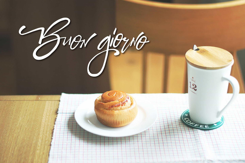 Buona giornata con caffè