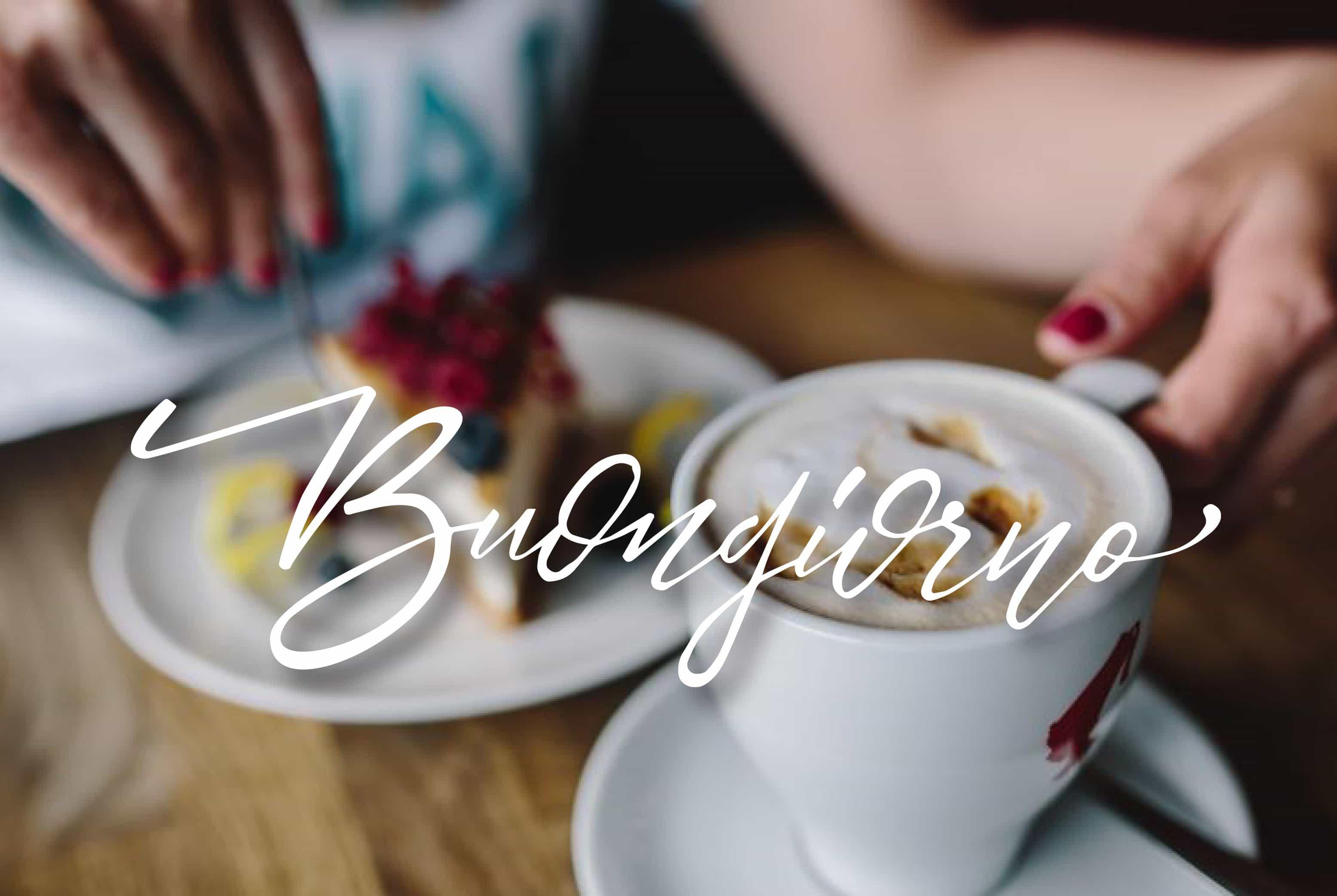 Buon caffè e buona giornata amici foto