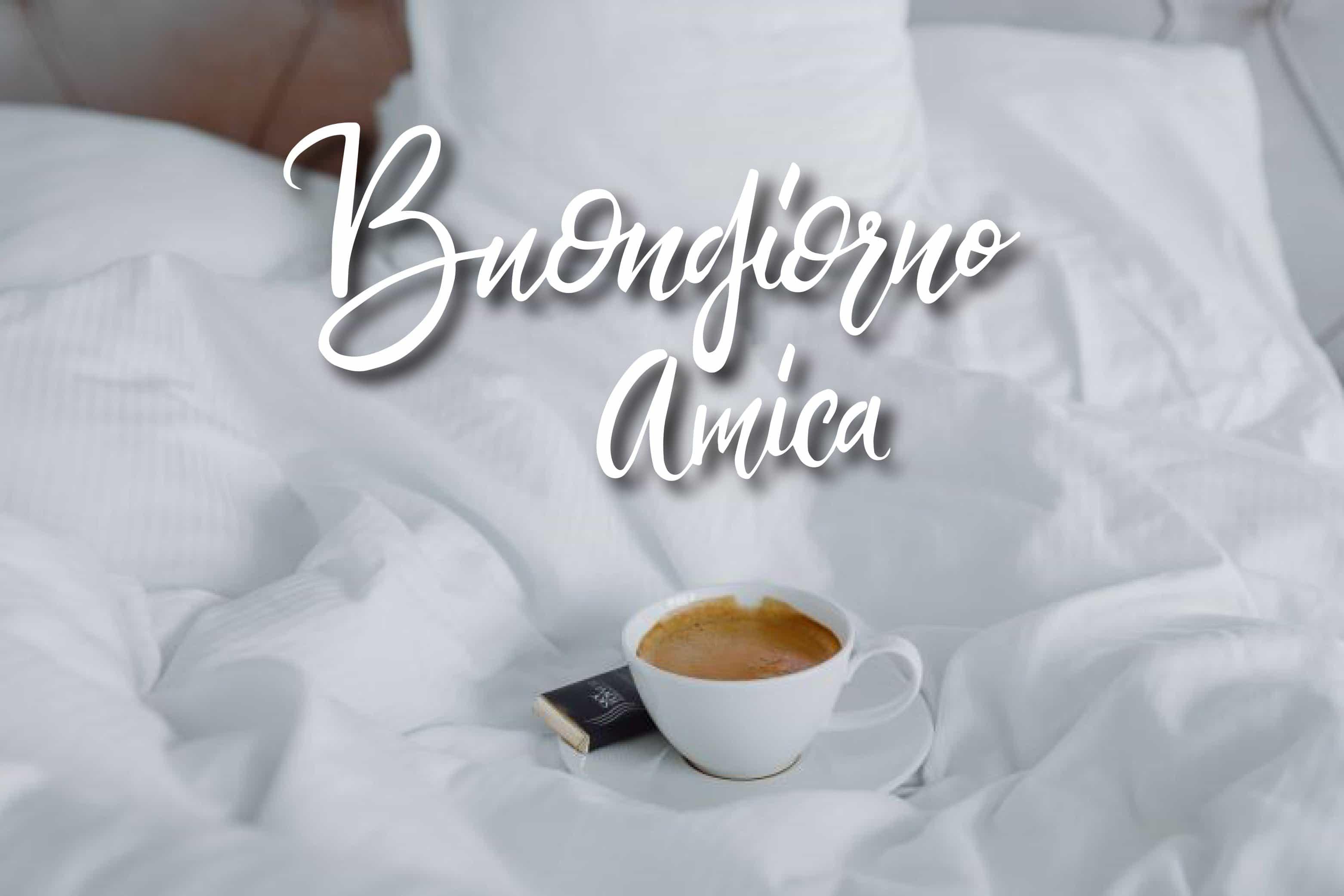 Un caffe a letto! Buon giorno amica!