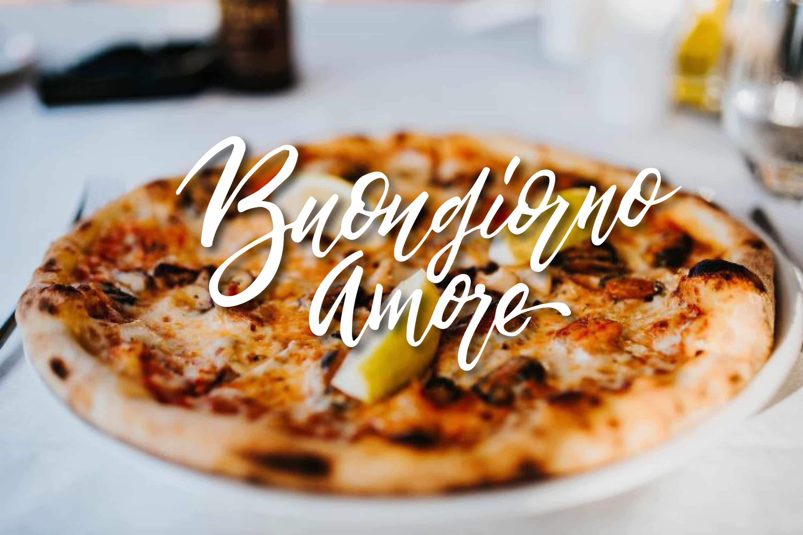 Buon pizza e buongiorno amore gratis
