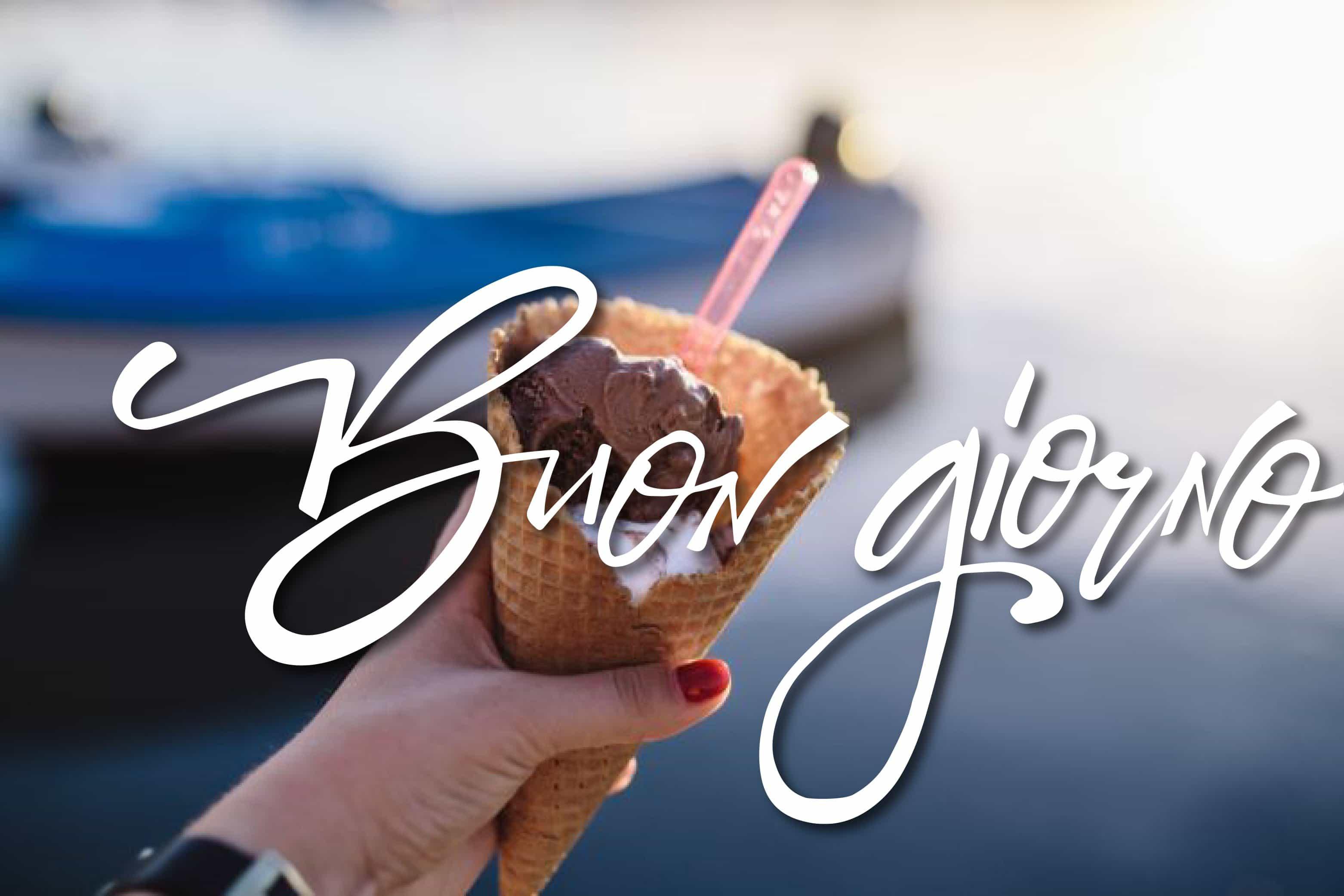 Buongiorno, prendi un gelato oggi!