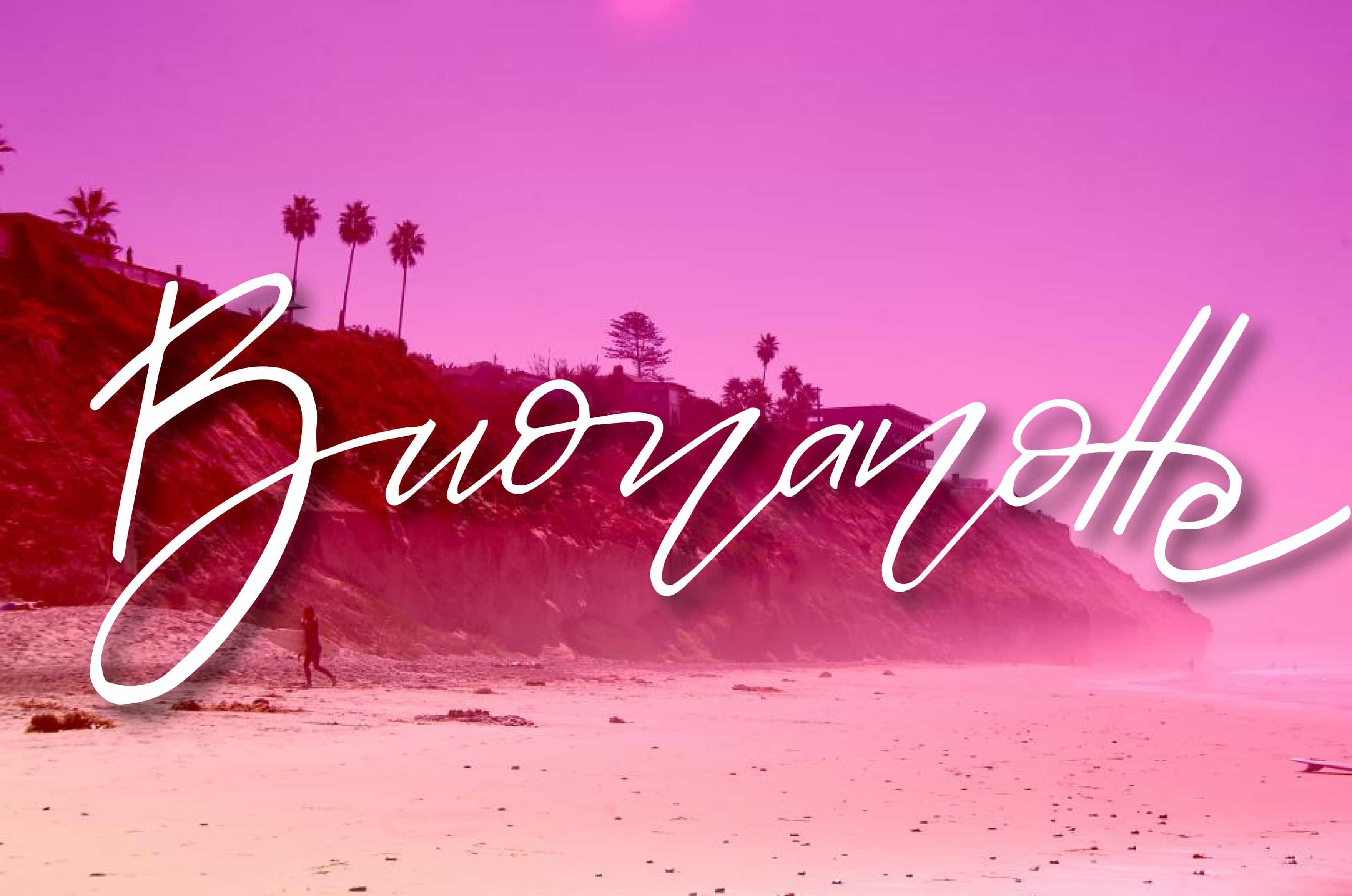 Buonanotte con la spiaggia rosa gratis