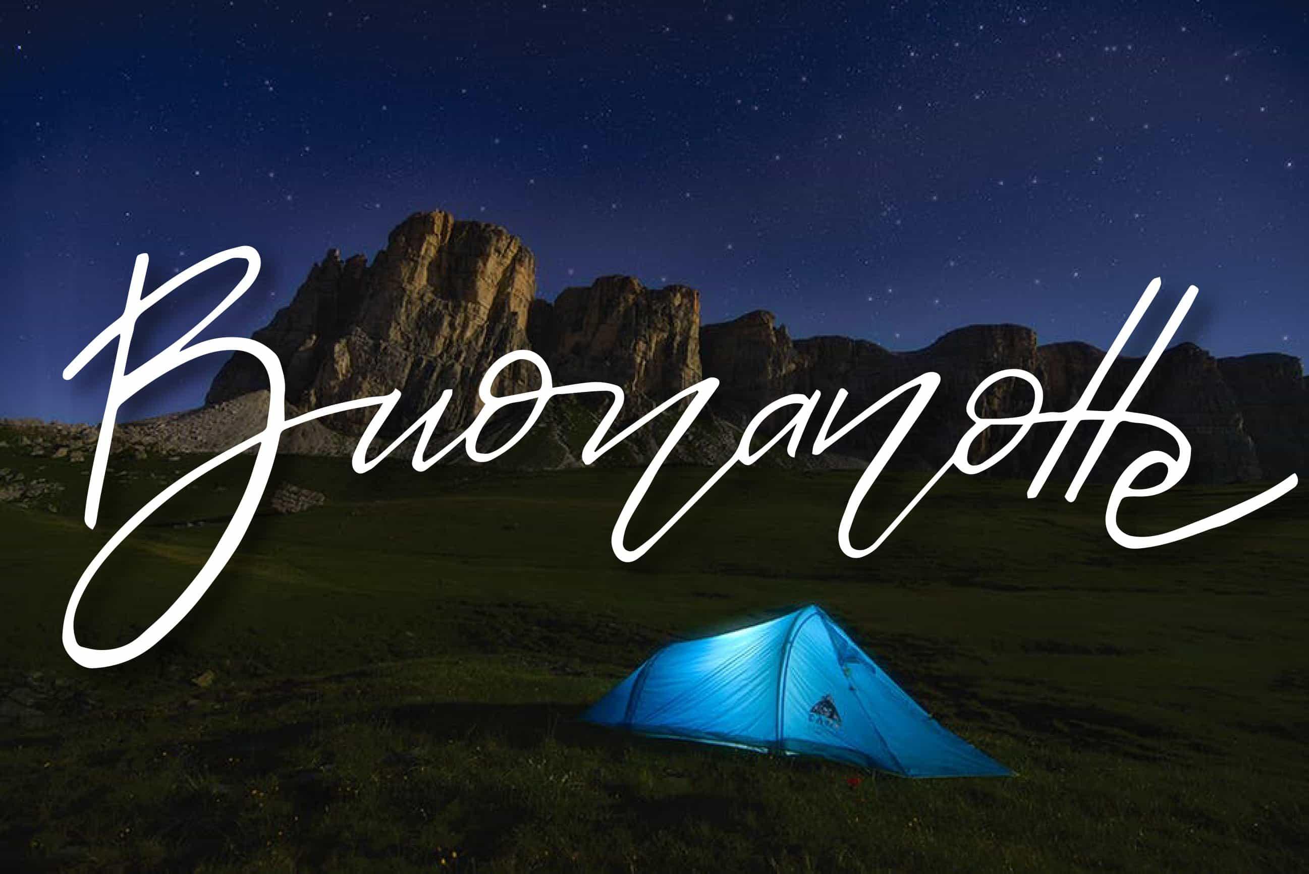 Buonanotte sotto cielo stellato