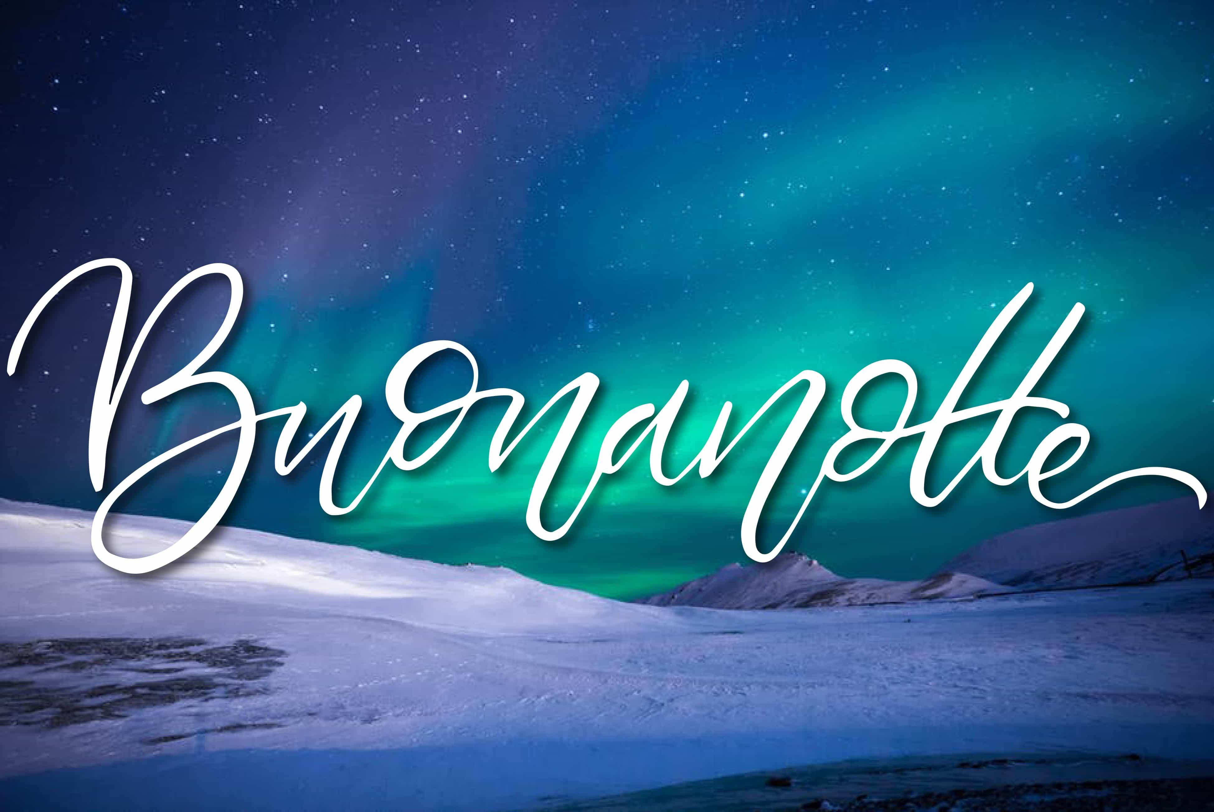Aurora boreale foto della buonanotte