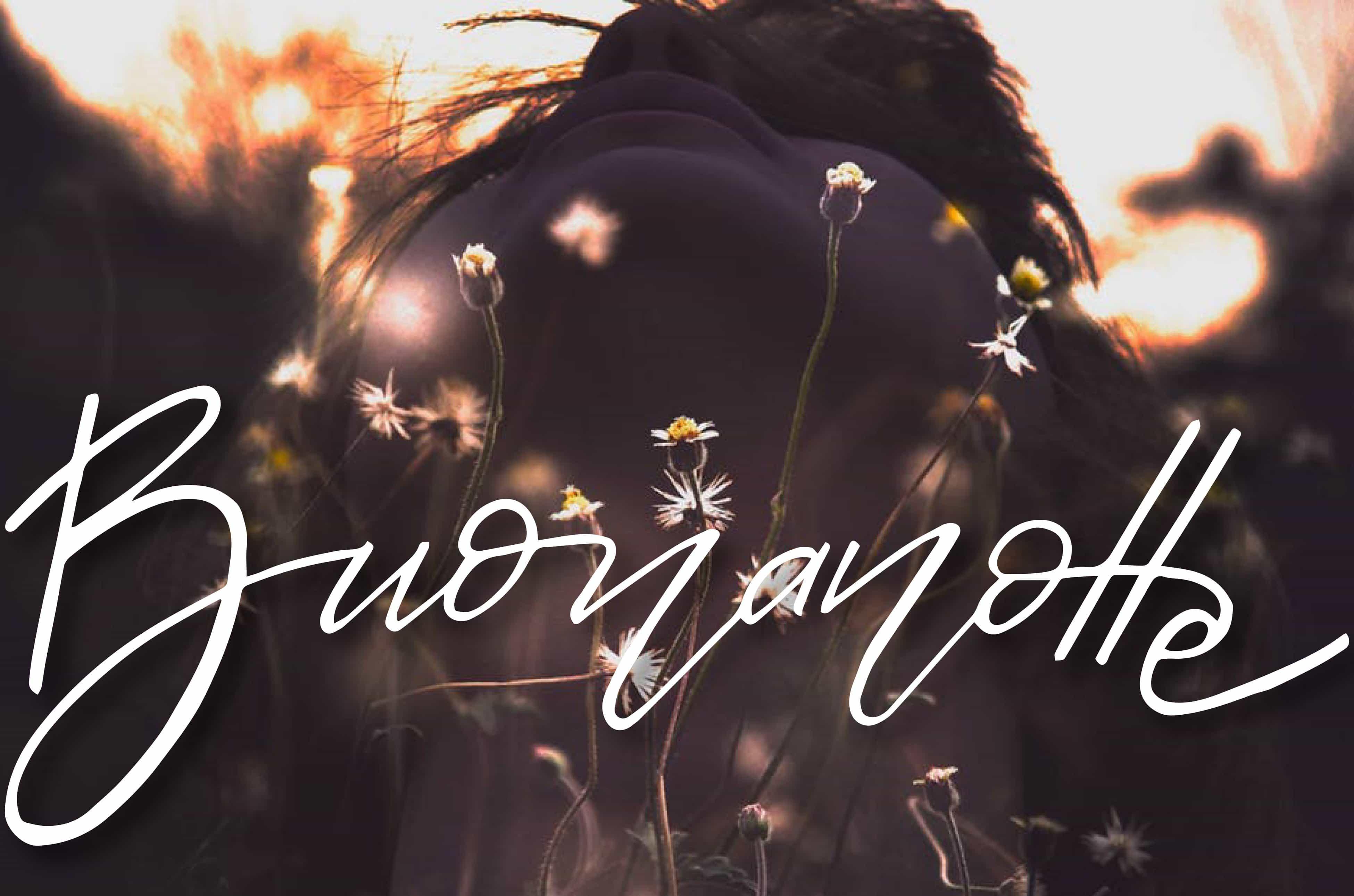 Foto con i fiori per augurare buonanotte su Facebook