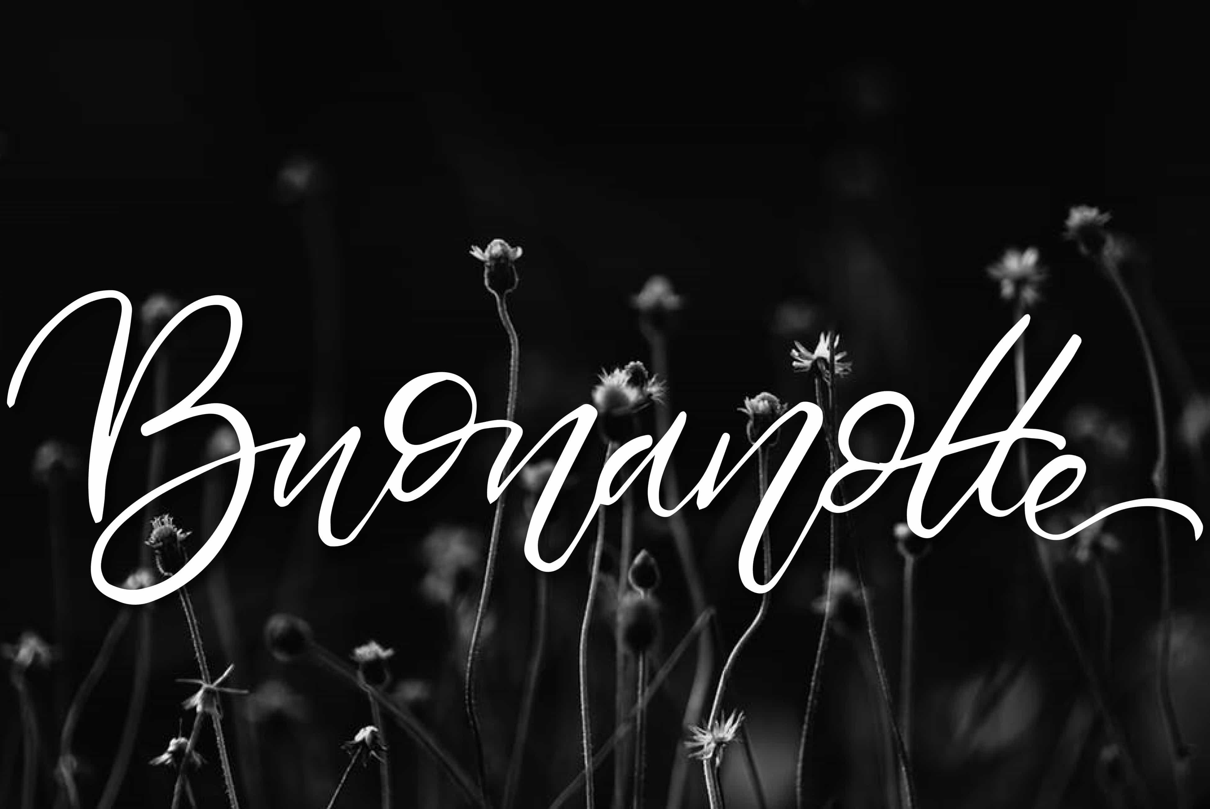 buonanotte con i fiori bianco e nero