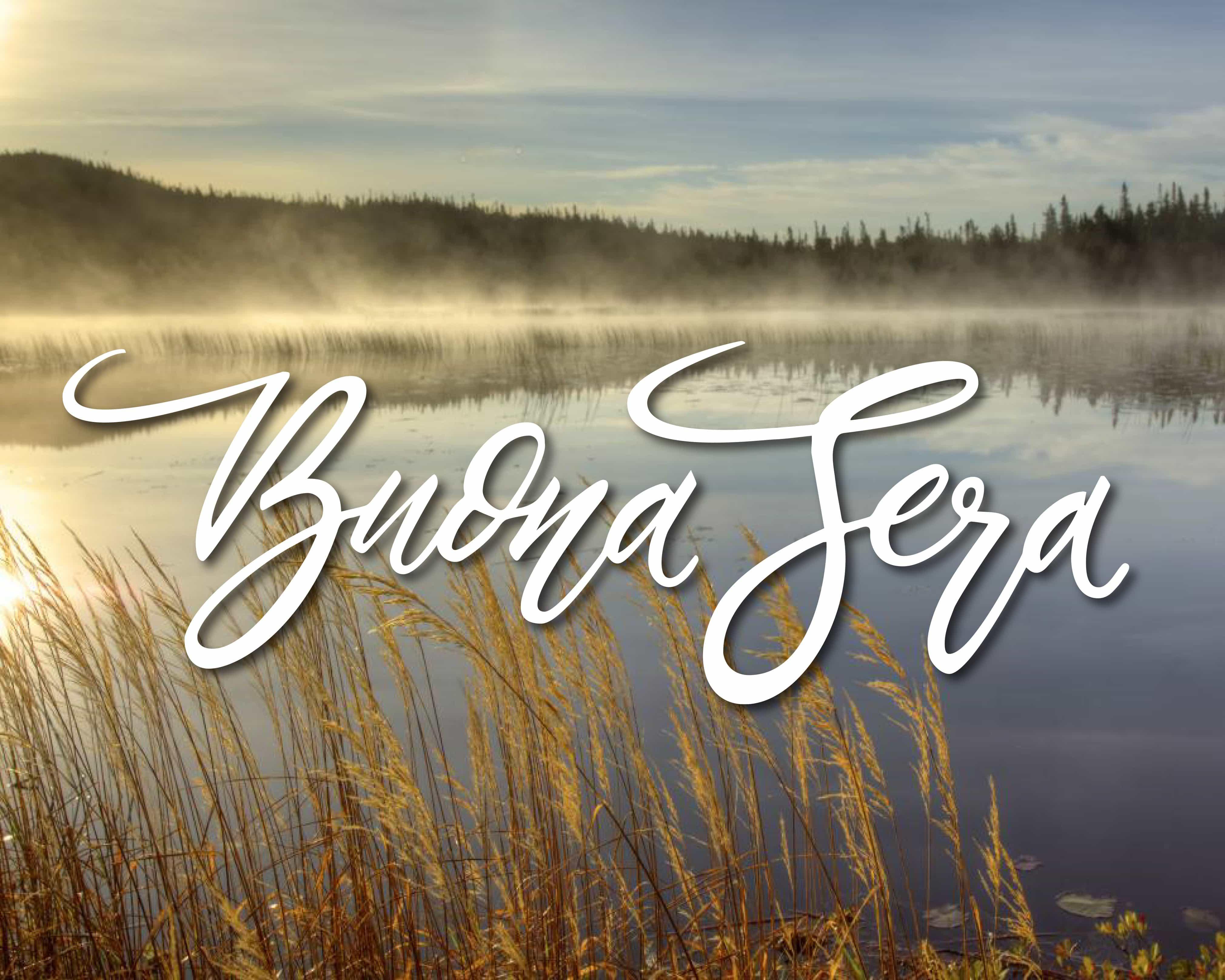 Buona serata con lago per Facebook