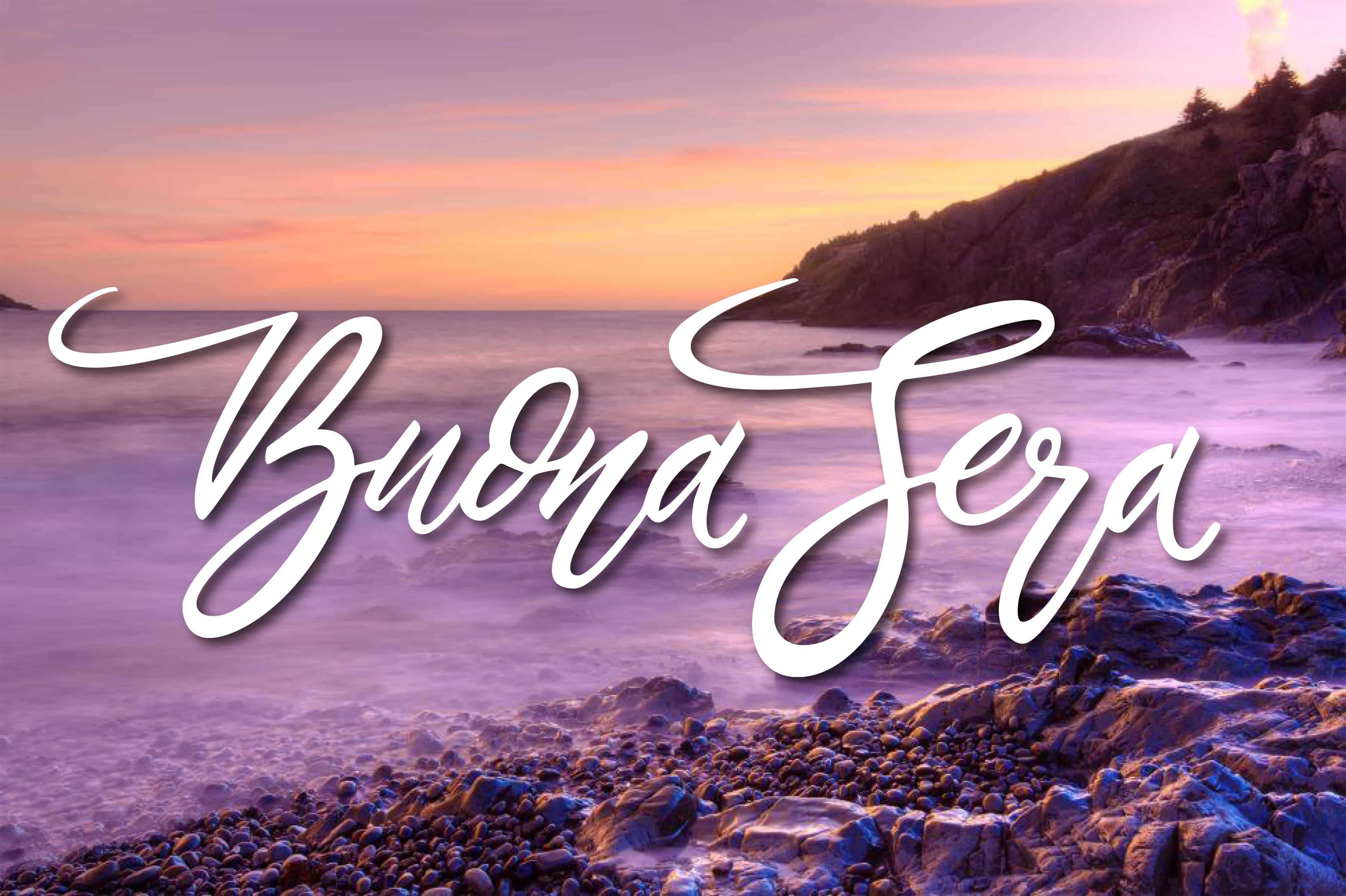 Dolce sera con la spiaggia per facebook