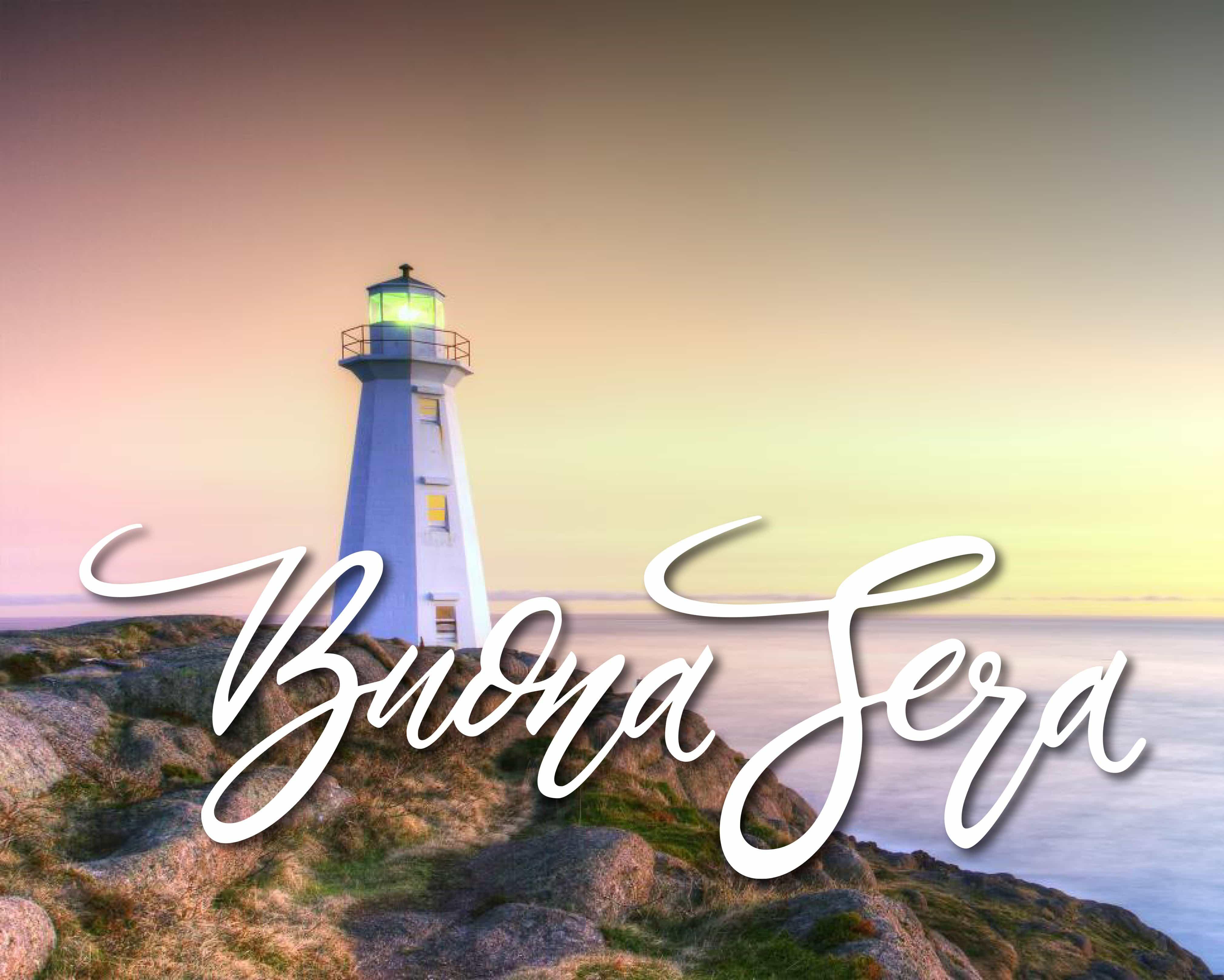 Buona serata sul mare per facebook