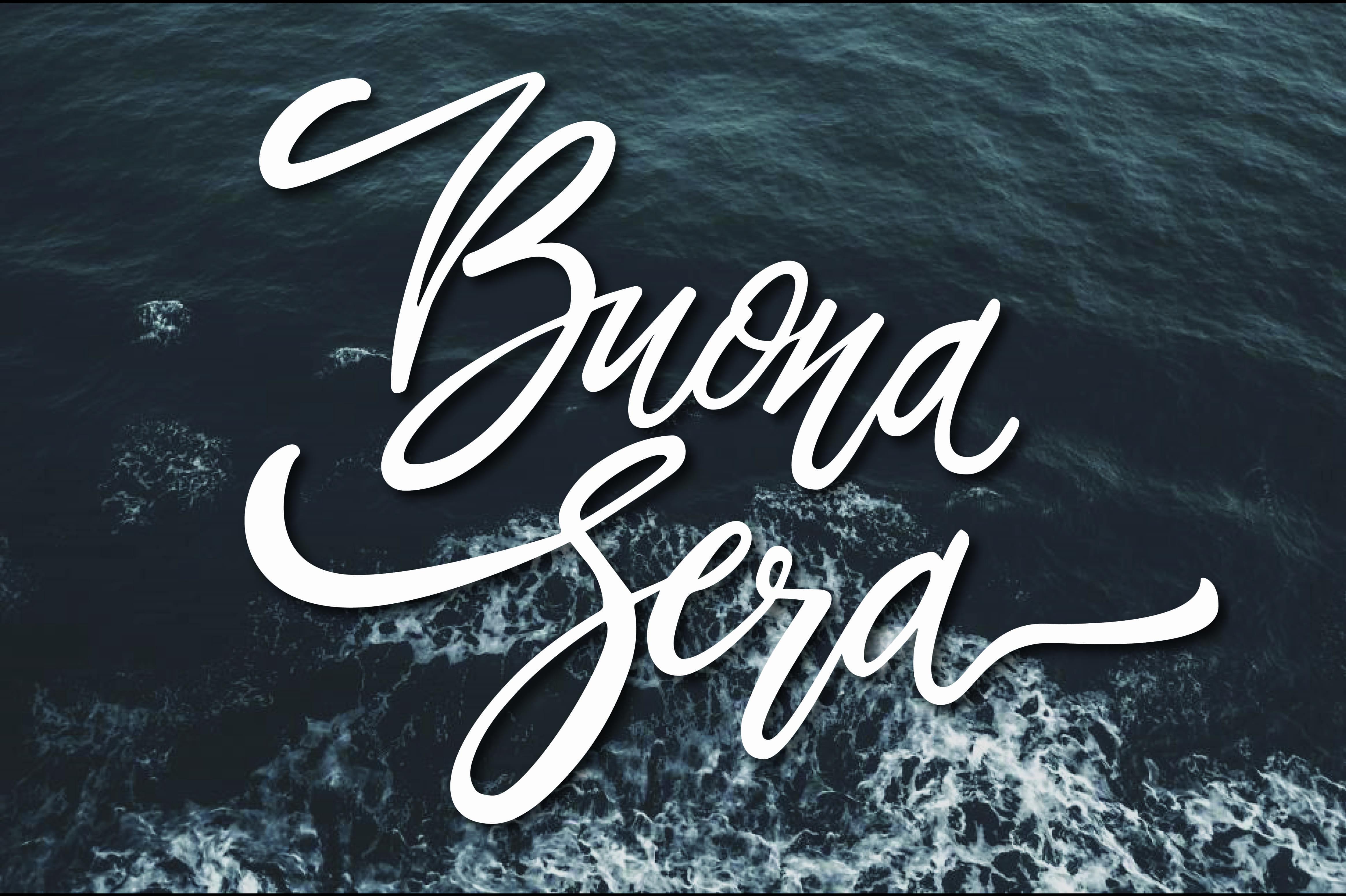 Buona serata foto gratis con il mare
