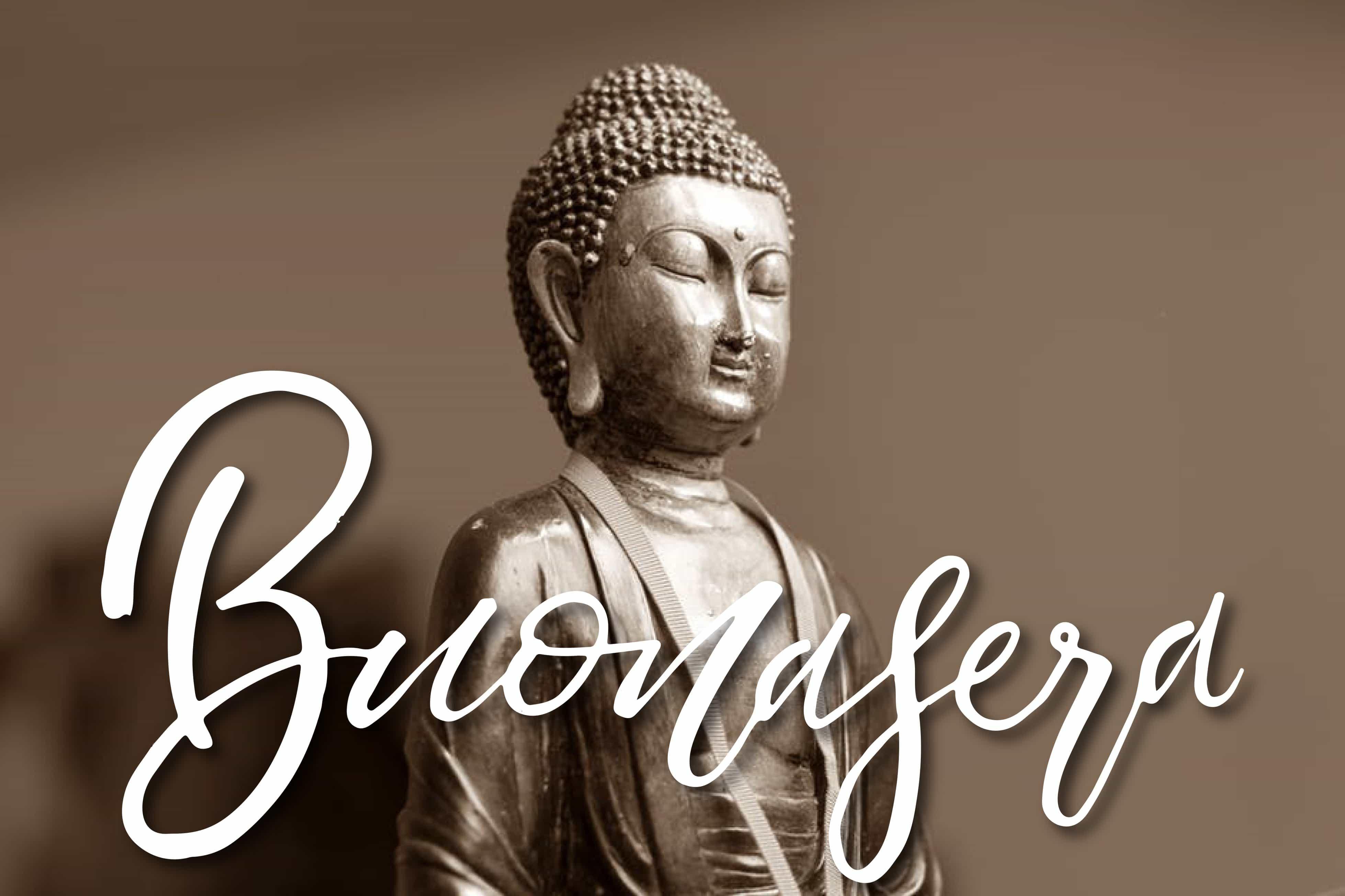 Foto di buona sera con Buddha