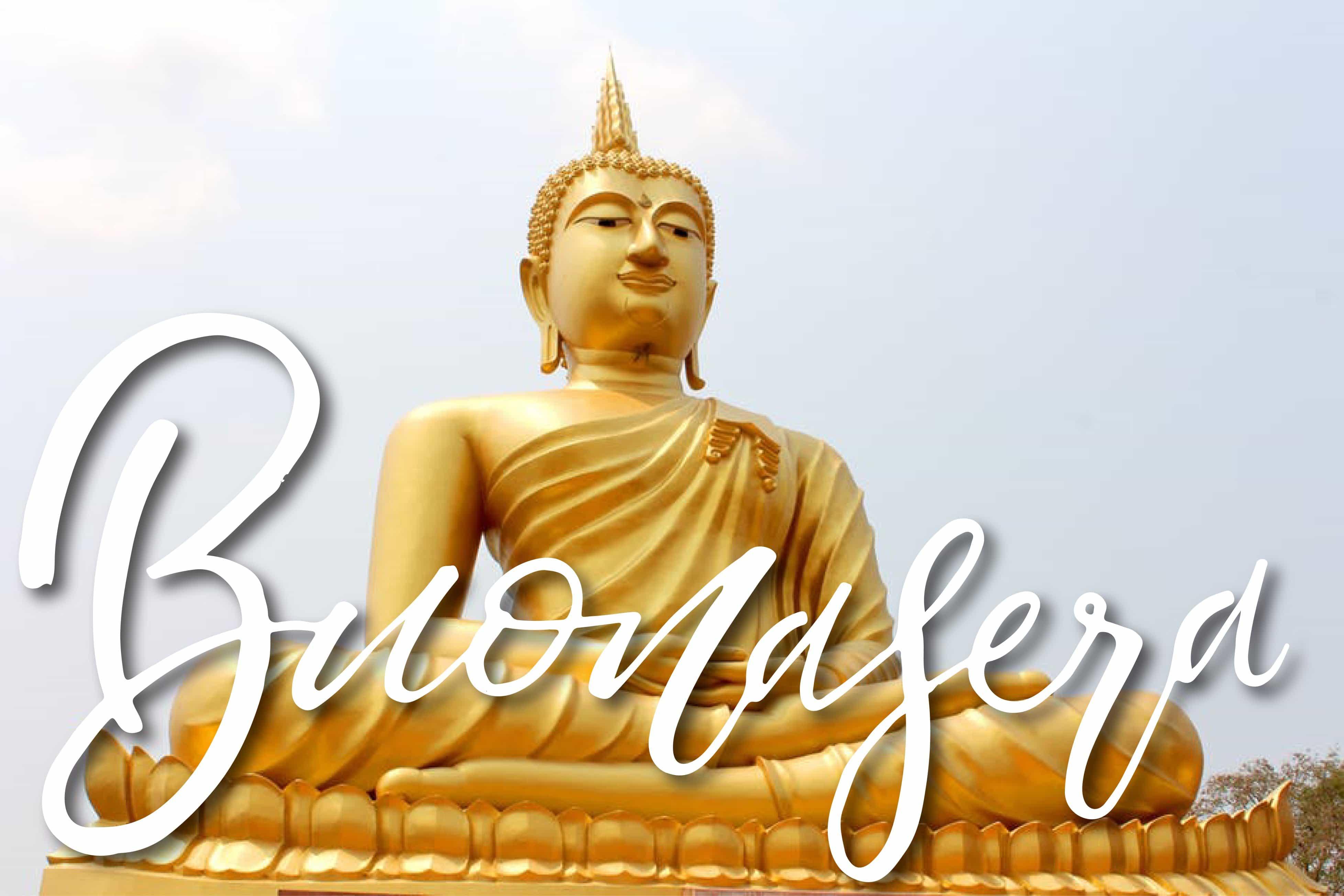 Buona serata con Buddha d'oro foto