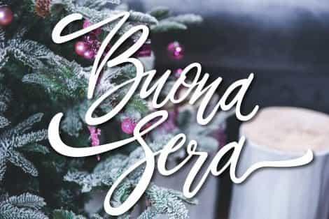 Foto buona sera con albero di Natale