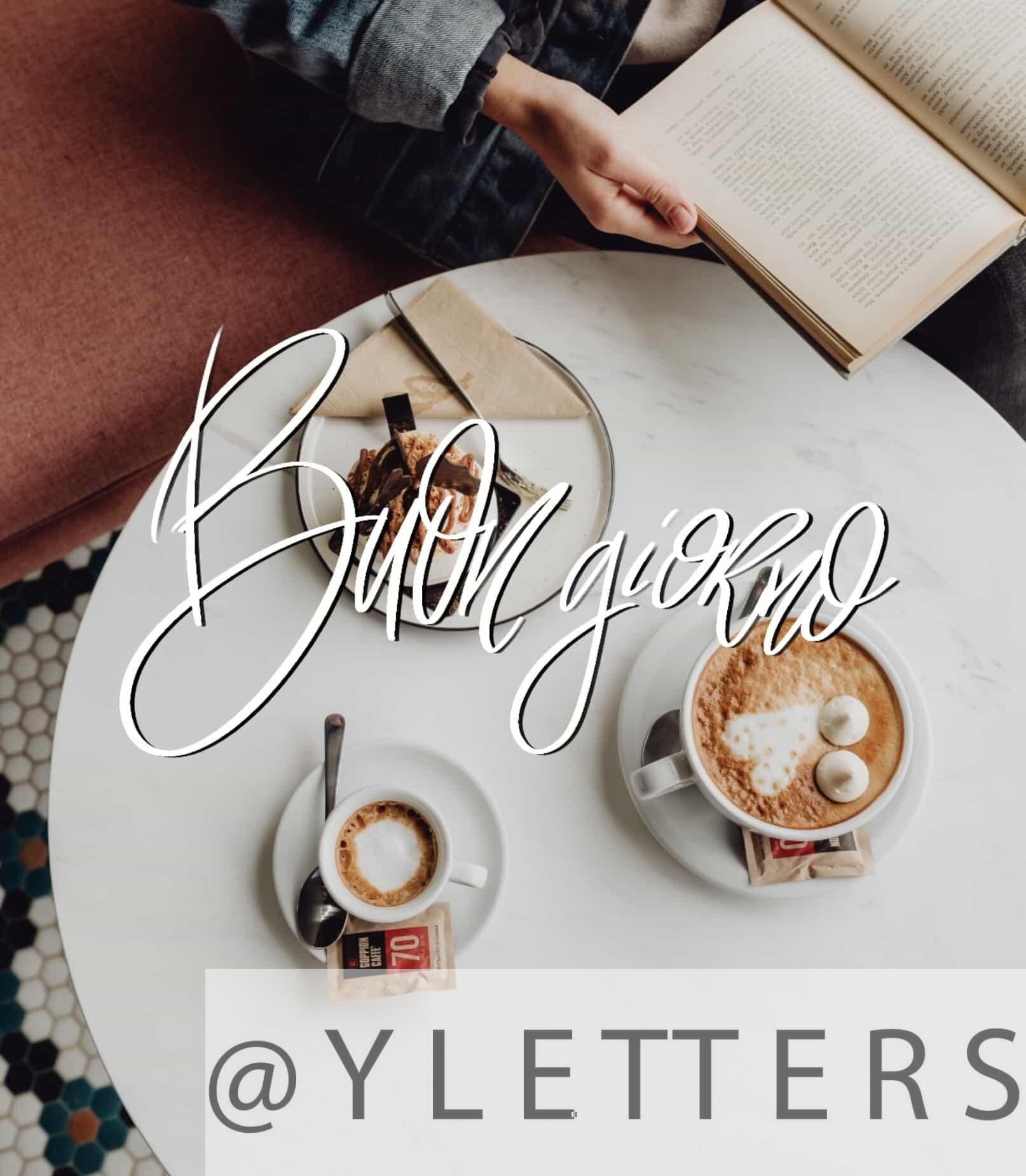 Immagini buon caffè con dolce