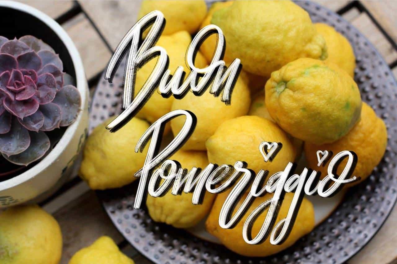Foto divertente di buon pomeriggio con limone, Immagine buon pomeriggio