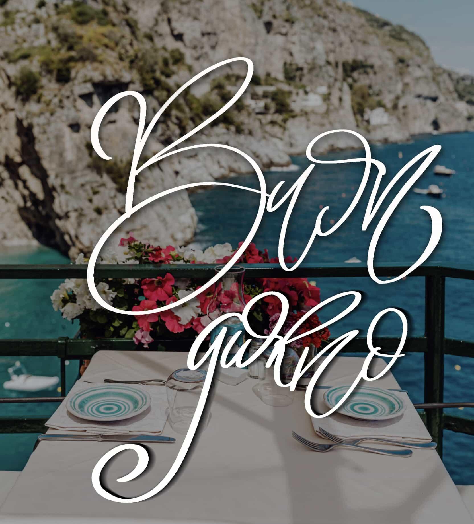 Immagini buongiorno con fiori sul mare