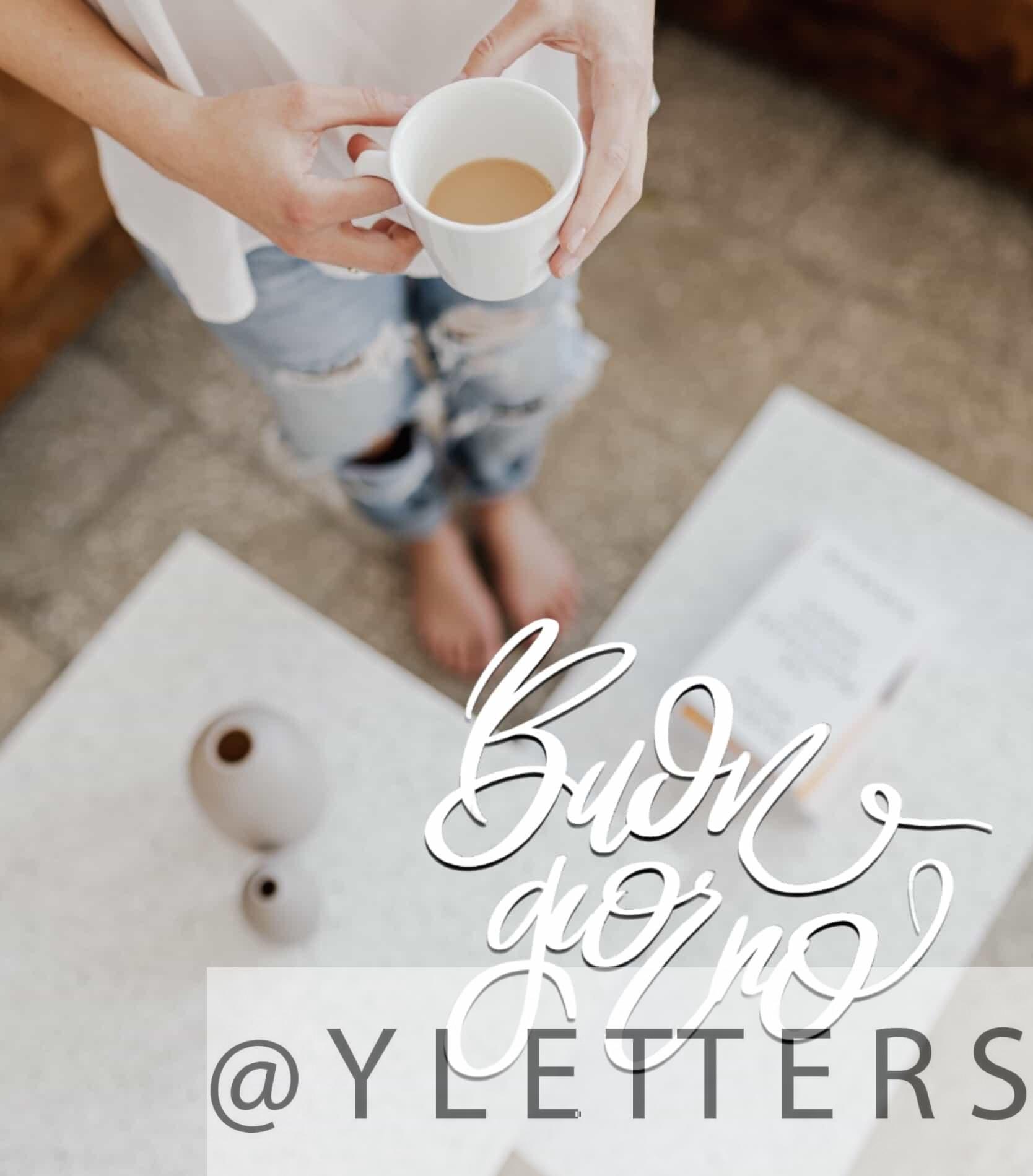prendi un caffè. Buona giornata